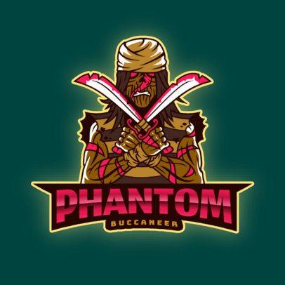 Gaming Logo Maker Featuring a Phantom Buccaneer 2811q