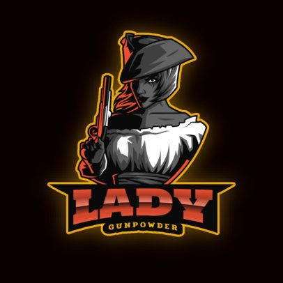 Logo Creator Featuring a Female Pirate for a Gaming Squad 2811t