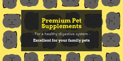 Twitter Header Maker for a Pet Supplements Store 2121b