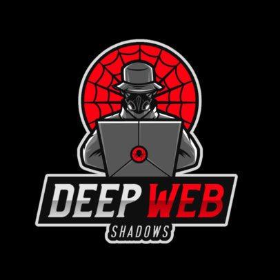 Gaming Logo Maker Featuring a Deep Web Hacker 2815o