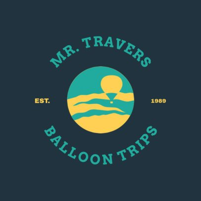 Logo Template for a Hot Air Balloon Tour Agency 1280g-2797