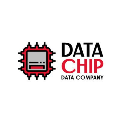 Data Company Logo Creator with a Computer Chip Icon 388b-el1