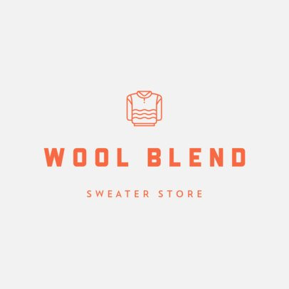 Minimal Clothing Logo Maker for a Sweater Store 470c-el1