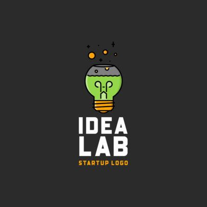 Startup Logo Maker with a Light Bulb Icon 486-el1