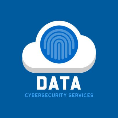 Logo Design Template with a Cloud Graphic for Cyber Security Services 476b-el1