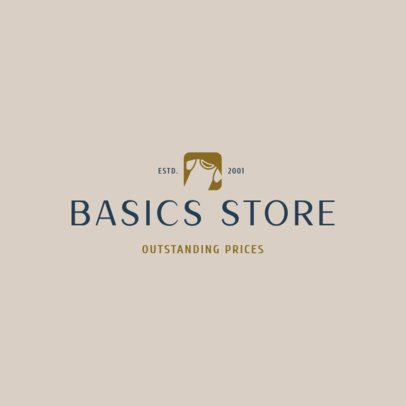 Logo Template for a Basic Apparel Store with a Clothing Clipart 1329i-2833