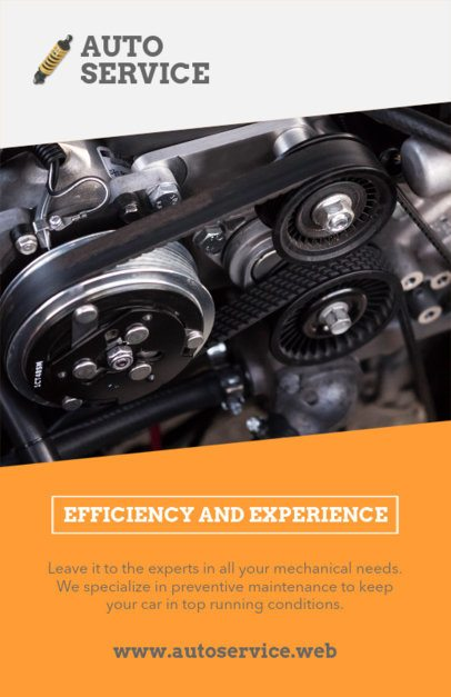Automotive Service Flyer Template with a Gear Picture 279a