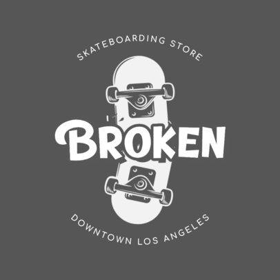 Cool Logo Maker with the Illustration of a Broken Skateboard 2591f-2837