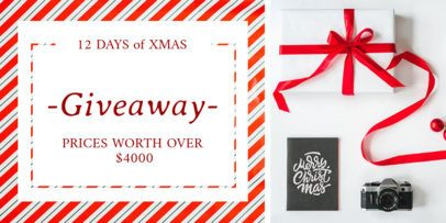 Holiday Giveaway Twitter Post Template 669a
