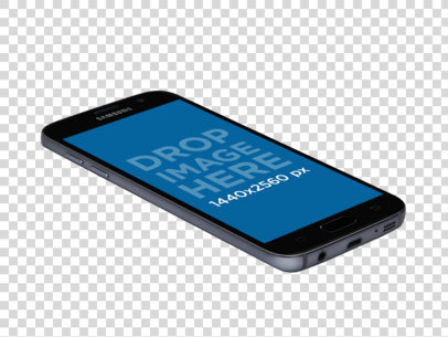 Android Mockup of a Samsung Galaxy S7 With Transparent Background a11602