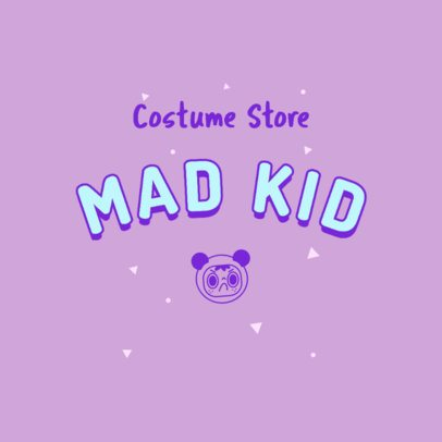 Costume Store Logo Creator with a Mad Kid Cartoon 2736m-2836