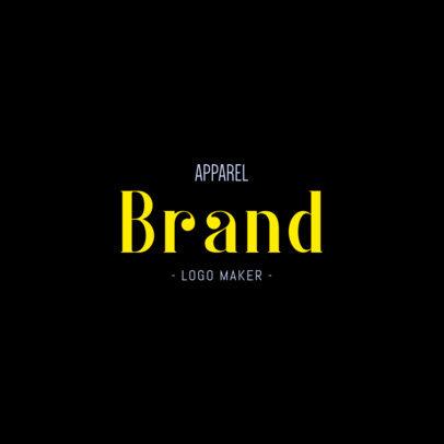 Online Logo Creator for an Apparel Brand 1217f-2835