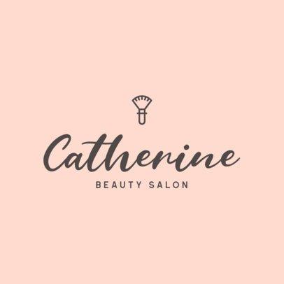 Minimalistic Logo Template for a Beauty Salon 421-el1