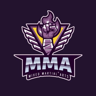 Mixed Martial Arts Logo Template 2852