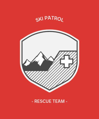 T-Shirt Design Template for a Rescue Team 203b-el1