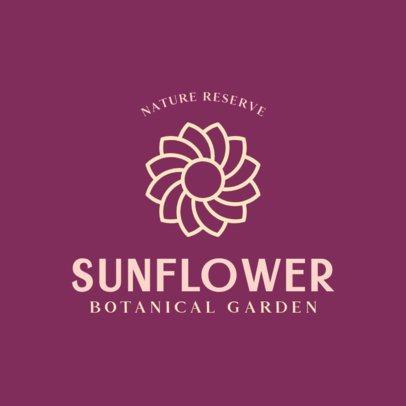 Simple Logo Maker for a Botanical Garden 384b-el1