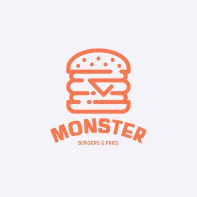 Restaurant Logo Creator with Fast Food Graphics 457-el1