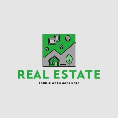 Cool Logo Generator for a Real Estate Company 487c-el1