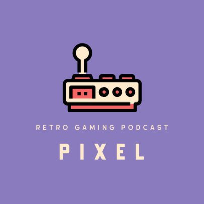 Online Logo Template for a Retro-Gaming Podcast 312a-el1