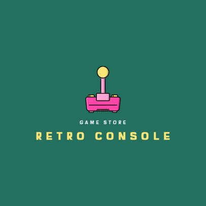 Retro Gaming Logo Maker Featuring a Joystick Graphic 340b-el1
