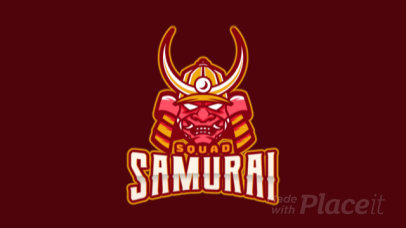 Animated eSports Logo Maker With Samurai Clipart 1749f