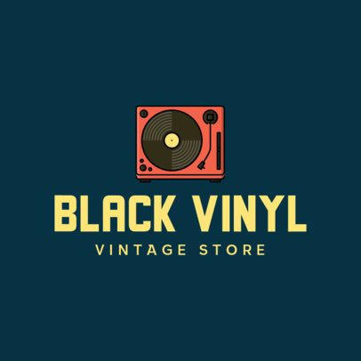Logo Maker for a Vintage Store Featuring a Turntable Icon 337a-el1