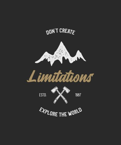 Motivational T-Shirt Design For Outdoorsy Adventurers 212-el1