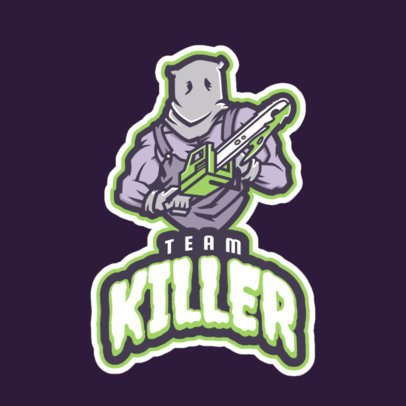Gaming Logo Maker Featuring a Strong Character Holding a Chainsaw 21q-2858