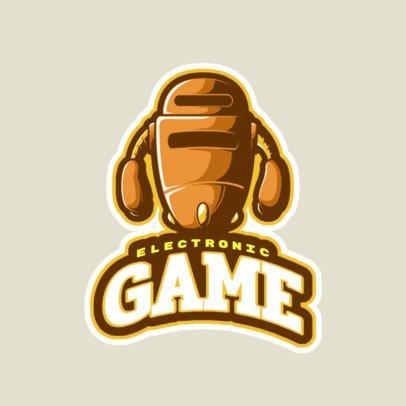 Gaming Logo Maker with a Robotic Character 523i-2862