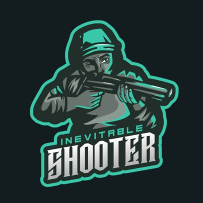 Gaming Logo Maker Featuring a Character with a Shotgun 1743q-2860