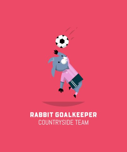 Soccer T-Shirt Design Maker with a Bunny Illustration 208a-el1