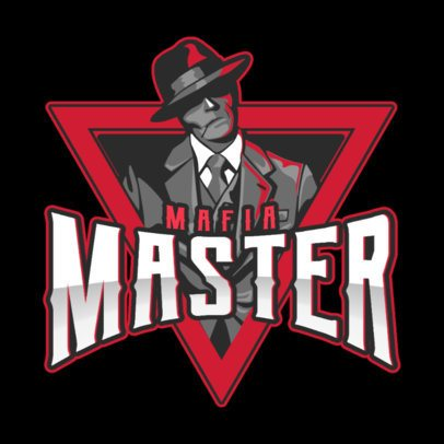 eSports Team Logo Maker Featuring an Elegant Classic Gangster 1750v-2860