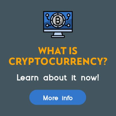 Banner Template Featuring a Cryptocurrency Theme 428-el1