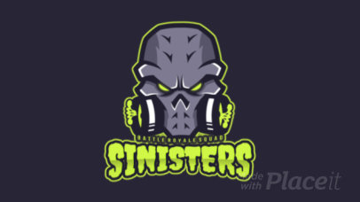 Animated Gaming Logo Template Featuring a Fantasy Skull Clipart 1750f