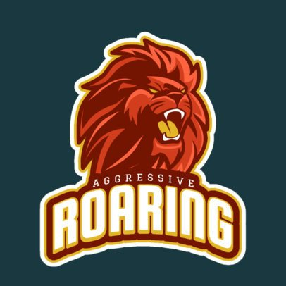 Gaming Logo Template Featuring a Roaring Lion Clipart 21r-2858