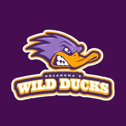 Sports Team Logo Creator Featuring a Wild Duck Graphic 21p-2861