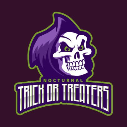 Gaming Logo Template Featuring a Cartoonish Skull Graphic 2620m-2856