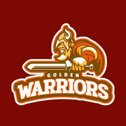Gaming Logo Maker for a Squad with a Warrior Character 29r-2859