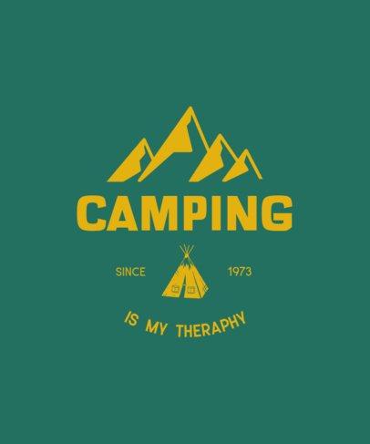 T-Shirt Desing Generator for a Camping Fanatic 212c-el1