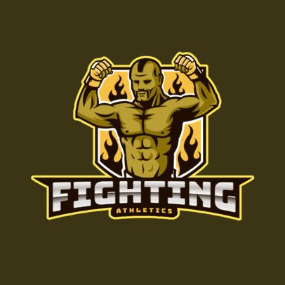Mixed Martial Arts Logo Generator Featuring a Fighter Illustration 2848a