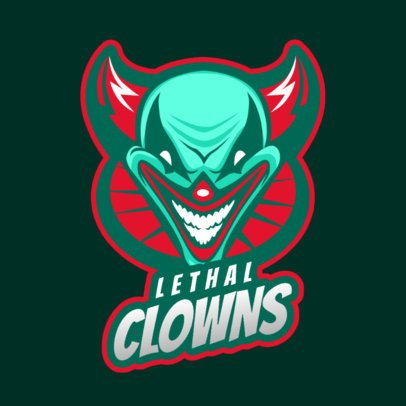 Logo Maker for Gaming Teams Featuring an Evil Clown Illustration 2407b 2857