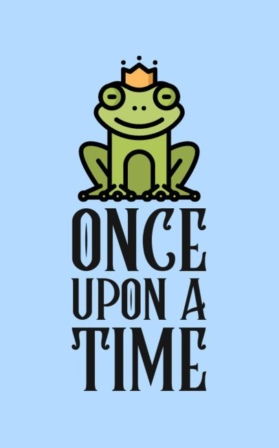 Illustrated T-Shirt Design Creator Featuring a Frog Prince 552b-el1