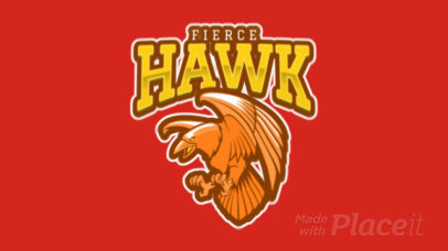 Animated Sports Logo Creator with a Fierce Hawk Mascot 120k-2862