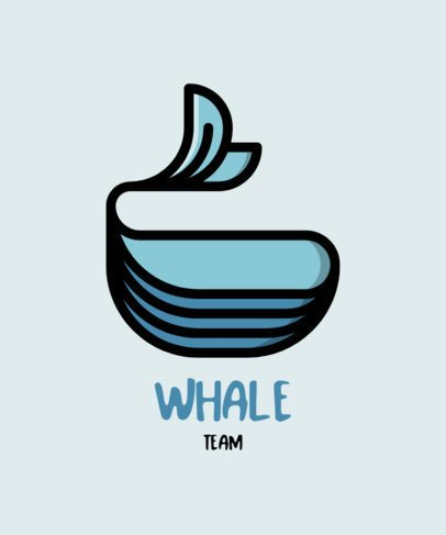 T-Shirt Design Creator with a Minimalistic Whale Icon 558b-el1