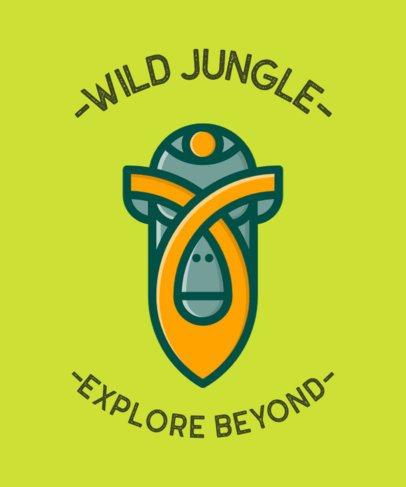 Summer Camp T-Shirt Design Maker with a Jungle Mask Graphic 554c-el1