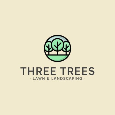 Logo Template with a Tree Icon for a Landscaping Company 557c-el1