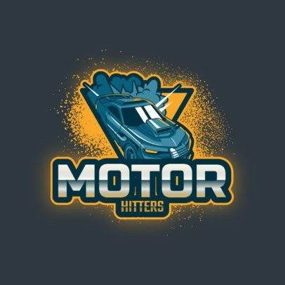Rocket League-Based Logo Template with a Powerful Car Graphic 2851h