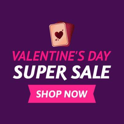 Online Banner Maker for a Valentine's Super Sale 1049h-2143