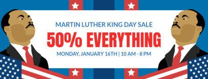 Facebook Cover Template with a MLK Day Theme 2141