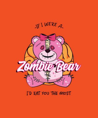 T-Shirt Design Creator with an Illustration of a Zombie Teddy Bear 2137b